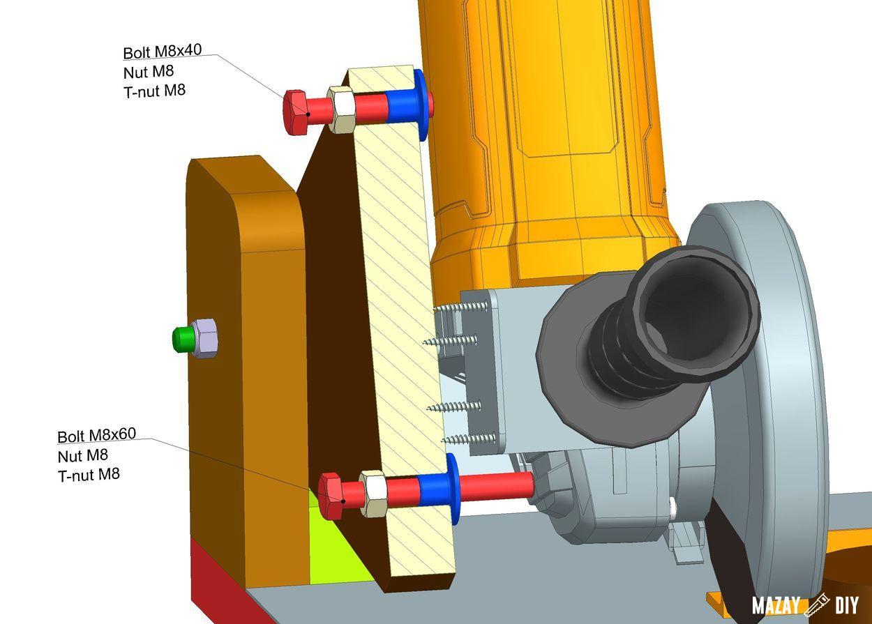 homemade angle grinder holder plans