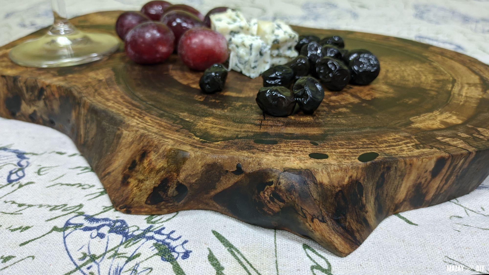 DIY wood serving board